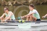 The Women's Boat Race and Henley Boat Races 2014: The Lightweight Men's Boat Race - OULRC vs CULRC. In the leading Cambridge boat 5 seat Nikodem Szumilo, 4 Andrei Lebed.. River Thames, Henley-on-Thames, Buckinghamshire, United Kingdom, on 30 March 2014 at 15:40, image #382