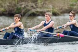 The Women's Boat Race and Henley Boat Races 2014: The Lightweight Men's Boat Race - OULRC vs CULRC. In the Oxford boat 6 seat Rowan Arthur, 5 James Ellison, 4 Robert Leonard.. River Thames, Henley-on-Thames, Buckinghamshire, United Kingdom, on 30 March 2014 at 15:40, image #390