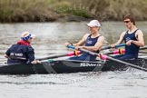 The Women's Boat Race and Henley Boat Races 2014: The Lightweight Men's Boat Race - OULRC vs CULRC. In the Oxford boat Cox Hannah Keenan, stroke Matt Kerin, 7 Andrew Saul.. River Thames, Henley-on-Thames, Buckinghamshire, United Kingdom, on 30 March 2014 at 15:40, image #392