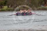 The Women's Boat Race and Henley Boat Races 2014: The Lightweight Men's Boat Race - OULRC vs CULRC. Oxford boat is reducing the distance to the leading Cambridge boat.. River Thames, Henley-on-Thames, Buckinghamshire, United Kingdom, on 30 March 2014 at 15:41, image #397