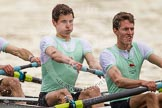 The Women's Boat Race and Henley Boat Races 2014: After the Lightweight Men's Boat Race - the Cambridge Eight is rowing back to Henley. Here 3 seat James Green and 4 Andrei Lebed.. River Thames, Henley-on-Thames, Buckinghamshire, United Kingdom, on 30 March 2014 at 15:46, image #412