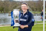 The Women's Boat Race and Henley Boat Races 2014: Maxie Scheske, president of OUWBC, the winner of the Newton Women's Boat Race, with the Newton Women's Boat Race Trophy.. River Thames, Henley-on-Thames, Buckinghamshire, United Kingdom, on 30 March 2014 at 17:13, image #536