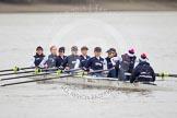 The OUWBC boat - Maxie Scheske, Anastasia Chitty, Shelley Pearson, Emily Reynolds, Amber De Vere, Lauren Kedar, Nadine Gradel Iberg, Caryn Davies, and Jennifer Ehr.