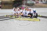 The Molesey BC boat - Emma Boyns,Orla Hates, Eve Newton, Natalie Irvine, Aimee Jonkers, Helen Roberts, Sam Fowler, Gabby Rodriguez, and cox Henry Fieldman.