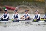 The OUWBC boat - Caryn Davies, Nadine Gradel Iberg, Lauren Kedar, and Amber De Vere.