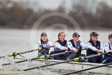 The race is on - the OUWBC boat with Maxie Scheske, Anastasia Chitty, Shelley Pearson, Emily Reynolds, Amber De Vere