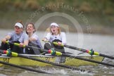 Molesey BC during the third race - Eve Newton, Orla Hates, Emma Boyns