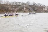 The OUWBC Eight is pulling away again during the third race