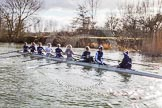 The Boat Race season 2015: OUWBC training Wallingford.  Wallingford,  United Kingdom, on 04 March 2015 at 15:35, image #26