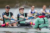 The Cambridge Eight - here Hannah Roberts, Fanny Belais and cox Rosemary Ostfeld