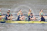 The Boat Race season 2015 - Newton Women's Boat Race. River Thames between Putney and Mortlake, London,  United Kingdom, on 10 April 2015 at 16:03, image #124