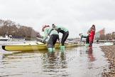 "Race preparations - CUWBC boat ""Twickenham"" and crew"