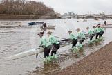 "Race preparations - CUWBC boat ""Tideway"" and crew"