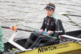 "The Boat Race season 2016 - Women's Boat Race Trial Eights (CUWBC, Cambridge): Hannah Roberts, 5 seat in ""Twickenham"". River Thames between Putney Bridge and Mortlake, London SW15,  United Kingdom, on 10 December 2015 at 10:17, image #15"