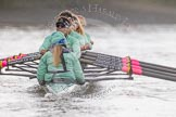 "The Boat Race season 2016 - Women's Boat Race Trial Eights (CUWBC, Cambridge): Rear view of ""Tideway"" during the race, cox-Olivia Godwin, stroke-Daphne Martschenko, 7-Thea Zabell, 6-Alexandra Wood, 5-Lucy Pike, 4-Alice Jackson, 3-Rachel Elwood, 2-Evelyn Boettcher, bow-Kate Baker. River Thames between Putney Bridge and Mortlake, London SW15,  United Kingdom, on 10 December 2015 at 11:05, image #55"