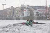 "The Boat Race season 2016 - Women's Boat Race Trial Eights (CUWBC, Cambridge): ""Tideway"" chasing ""Twickenham"" near Fulham Reach. River Thames between Putney Bridge and Mortlake, London SW15,  United Kingdom, on 10 December 2015 at 11:09, image #75"