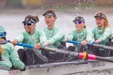 "The Boat Race season 2016 - Women's Boat Race Trial Eights (CUWBC, Cambridge): ""Tideway"" with cox-Olivia Godwin, stroke-Daphne Martschenko, 7-Thea Zabell, 6-Alexandra Wood, 5-Lucy Pike. River Thames between Putney Bridge and Mortlake, London SW15,  United Kingdom, on 10 December 2015 at 11:13, image #94"