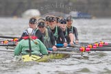 "The Boat Race season 2016 - Women's Boat Race Trial Eights (CUWBC, Cambridge): ""Twickenham"" in the lead at the Surrey Bend, cox-Rosemary Ostfeld, stroke-Myriam Goudet, 7-Caroline Habjan, 6-Fiona Macklin, 5-Hannah Roberts, 4-Sarah Carlotti, 3-Ashton Brown, 2-Imogen Grant, bow-Dorottya Nagy. River Thames between Putney Bridge and Mortlake, London SW15,  United Kingdom, on 10 December 2015 at 11:14, image #96"
