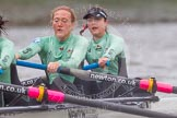 "The Boat Race season 2016 - Women's Boat Race Trial Eights (CUWBC, Cambridge): 2-Evelyn Boettcher and bow-Kate Baker rowing ""Tideway"". River Thames between Putney Bridge and Mortlake, London SW15,  United Kingdom, on 10 December 2015 at 11:14, image #97"