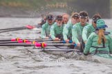 "The Boat Race season 2016 - Women's Boat Race Trial Eights (CUWBC, Cambridge): ""Tideway"" with cox-Olivia Godwin, stroke-Daphne Martschenko, 7-Thea Zabell, 6-Alexandra Wood, 5-Lucy Pike, 4-Alice Jackson, 3-Rachel Elwood, 2-Evelyn Boettcher, bow-Kate Baker. River Thames between Putney Bridge and Mortlake, London SW15,  United Kingdom, on 10 December 2015 at 11:19, image #113"