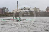 "The Boat Race season 2016 - Women's Boat Race Trial Eights (CUWBC, Cambridge): ""Tideway"" and ""Twickenham"" near the Stag Brewery. River Thames between Putney Bridge and Mortlake, London SW15,  United Kingdom, on 10 December 2015 at 11:21, image #115"