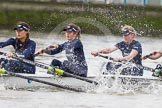 "The Boat Race season 2016 - Women's Boat Race Trial Eights (OUWBC, Oxford): ""Scylla"", here 4-Rebecca Te Water Naude, 3-Elettra Ardissino, 2-Merel Lefferts. River Thames between Putney Bridge and Mortlake, London SW15,  United Kingdom, on 10 December 2015 at 12:18, image #141"
