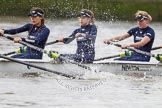 "The Boat Race season 2016 - Women's Boat Race Trial Eights (OUWBC, Oxford): ""Scylla"", here 4-Rebecca Te Water Naude, 3-Elettra Ardissino, 2-Merel Lefferts. River Thames between Putney Bridge and Mortlake, London SW15,  United Kingdom, on 10 December 2015 at 12:18, image #142"
