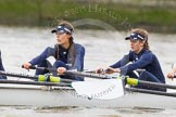"The Boat Race season 2016 - Women's Boat Race Trial Eights (OUWBC, Oxford): ""Scylla"", here 4-Rebecca Te Water Naude, 3-Elettra Ardissino. River Thames between Putney Bridge and Mortlake, London SW15,  United Kingdom, on 10 December 2015 at 12:18, image #143"