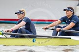 "The Boat Race season 2016 - Women's Boat Race Trial Eights (OUWBC, Oxford): ""Charybdis"", here 4-Emma Spruce, 3-Lara Pysden. River Thames between Putney Bridge and Mortlake, London SW15,  United Kingdom, on 10 December 2015 at 12:18, image #147"