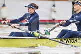 "The Boat Race season 2016 - Women's Boat Race Trial Eights (OUWBC, Oxford): ""Charybdis"", 7-Maddy Badcott, 6-Elo Luik. River Thames between Putney Bridge and Mortlake, London SW15,  United Kingdom, on 10 December 2015 at 12:18, image #149"