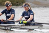 "The Boat Race season 2016 - Women's Boat Race Trial Eights (OUWBC, Oxford): ""Scylla"", here 2-Merel Lefferts, bow-Issy Dodds. River Thames between Putney Bridge and Mortlake, London SW15,  United Kingdom, on 10 December 2015 at 12:19, image #150"