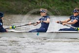 "The Boat Race season 2016 - Women's Boat Race Trial Eights (OUWBC, Oxford): ""Scylla"", here cox-Antonia Stutter, stroke-Emma Lukasiewicz, 7-Lauren Kedar. River Thames between Putney Bridge and Mortlake, London SW15,  United Kingdom, on 10 December 2015 at 12:20, image #169"