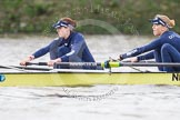 "The Boat Race season 2016 - Women's Boat Race Trial Eights (OUWBC, Oxford): ""Charybdis"", here 7-Maddy Badcott, 6-Elo Luik. River Thames between Putney Bridge and Mortlake, London SW15,  United Kingdom, on 10 December 2015 at 12:20, image #175"