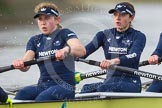 "The Boat Race season 2016 - Women's Boat Race Trial Eights (OUWBC, Oxford): ""Charybdis"" , here stroke-Kate Erickson, 7-Maddy Badcott. River Thames between Putney Bridge and Mortlake, London SW15,  United Kingdom, on 10 December 2015 at 12:26, image #216"
