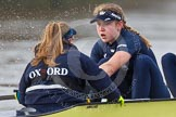 "The Boat Race season 2016 - Women's Boat Race Trial Eights (OUWBC, Oxford): ""Charybdis"" , here cox-Morgan Baynham-Williams, stroke-Kate Erickson. River Thames between Putney Bridge and Mortlake, London SW15,  United Kingdom, on 10 December 2015 at 12:26, image #217"