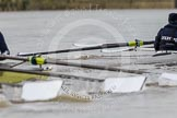 "The Boat Race season 2016 - Women's Boat Race Trial Eights (OUWBC, Oxford): ""Charybdis""  getting close to ""Scylla"" at the Surrey Bend. River Thames between Putney Bridge and Mortlake, London SW15,  United Kingdom, on 10 December 2015 at 12:26, image #219"