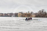 "The Boat Race season 2016 - Women's Boat Race Trial Eights (OUWBC, Oxford): ""Scylla"" at the Surrey Bend, cox-Antonia Stutter, stroke-Emma Lukasiewicz, 7-Lauren Kedar, 6-Joanne Jansen, 5-Anastasia Chitty, 4-Rebecca Te Water Naude, 3-Elettra Ardissino, 2-Merel Lefferts, bow-Issy Dodds. River Thames between Putney Bridge and Mortlake, London SW15,  United Kingdom, on 10 December 2015 at 12:27, image #225"
