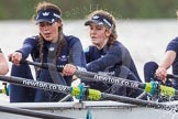 "The Boat Race season 2016 - Women's Boat Race Trial Eights (OUWBC, Oxford): ""Scylla"", here 4-Rebecca Te Water Naude, 3-Elettra Ardissino. River Thames between Putney Bridge and Mortlake, London SW15,  United Kingdom, on 10 December 2015 at 12:28, image #231"