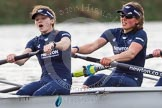 "The Boat Race season 2016 - Women's Boat Race Trial Eights (OUWBC, Oxford): ""Scylla"", here stroke-Emma Lukasiewicz, 7-Lauren Kedar. River Thames between Putney Bridge and Mortlake, London SW15,  United Kingdom, on 10 December 2015 at 12:28, image #234"