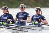 "The Boat Race season 2016 - Women's Boat Race Trial Eights (OUWBC, Oxford): ""Scylla"", here 3-Elettra Ardissino, 2-Merel Lefferts, bow-Issy Dodds. River Thames between Putney Bridge and Mortlake, London SW15,  United Kingdom, on 10 December 2015 at 12:28, image #237"