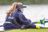 """The Boat Race season 2016 - Women's Boat Race Trial Eights (OUWBC, Oxford): """"Charybdis"""" , cox Morgan Baynham-Williams. River Thames between Putney Bridge and Mortlake, London SW15,  United Kingdom, on 10 December 2015 at 12:28, image #245"""