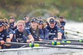 "The Boat Race season 2016 - Women's Boat Race Trial Eights (OUWBC, Oxford): ""Scylla"", here 5-Anastasia Chitty, 4-Rebecca Te Water Naude, 3-Elettra Ardissino, 2-Merel Lefferts, bow-Issy Dodds. River Thames between Putney Bridge and Mortlake, London SW15,  United Kingdom, on 10 December 2015 at 12:34, image #290"