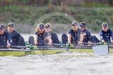 "The Boat Race season 2016 - Women's Boat Race Trial Eights (OUWBC, Oxford): ""Charybdis"", here 7-Maddy Badcott, 6-Elo Luik, 5-Ruth Siddorn, 4-Emma Spruce, 3-Lara Pysden, 2-Christina Fleischer, bow-Georgie Daniell. River Thames between Putney Bridge and Mortlake, London SW15,  United Kingdom, on 10 December 2015 at 12:35, image #297"