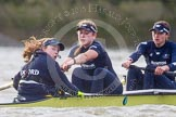 "The Boat Race season 2016 - Women's Boat Race Trial Eights (OUWBC, Oxford): ""Charybdis"", here Cox-Morgan Baynham-Williams, stroke-Kate Erickson, 7-Maddy Badcott, 6-Elo Luik. River Thames between Putney Bridge and Mortlake, London SW15,  United Kingdom, on 10 December 2015 at 12:35, image #300"
