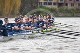 "The Boat Race season 2016 - Women's Boat Race Trial Eights (OUWBC, Oxford): ""Scylla"", here cox-Antonia Stutter, stroke-Emma Lukasiewicz, 7-Lauren Kedar, 6-Joanne Jansen, 5-Anastasia Chitty, 4-Rebecca Te Water Naude, 3-Elettra Ardissino, 2-Merel Lefferts, bow-Issy Dodds. River Thames between Putney Bridge and Mortlake, London SW15,  United Kingdom, on 10 December 2015 at 12:35, image #304"