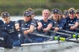 "The Boat Race season 2016 - Women's Boat Race Trial Eights (OUWBC, Oxford): ""Scylla"", here cox-Antonia Stutter, stroke-Emma Lukasiewicz, 7-Lauren Kedar, 6-Joanne Jansen, 5-Anastasia Chitty, 4-Rebecca Te Water Naude, 3-Elettra Ardissino, 2-Merel Lefferts, bow-Issy Dodds. River Thames between Putney Bridge and Mortlake, London SW15,  United Kingdom, on 10 December 2015 at 12:36, image #306"