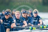 "The Boat Race season 2016 - Women's Boat Race Trial Eights (OUWBC, Oxford): ""Scylla"", here 7-Lauren Kedar, 6-Joanne Jansen, 5-Anastasia Chitty, 4-Rebecca Te Water Naude, 3-Elettra Ardissino, 2-Merel Lefferts, bow-Issy Dodds. River Thames between Putney Bridge and Mortlake, London SW15,  United Kingdom, on 10 December 2015 at 12:36, image #309"