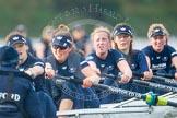 "The Boat Race season 2016 - Women's Boat Race Trial Eights (OUWBC, Oxford): ""Scylla"", here cox-Antonia Stutter, stroke-Emma Lukasiewicz, 7-Lauren Kedar, 6-Joanne Jansen, 5-Anastasia Chitty, 4-Rebecca Te Water Naude, 3-Elettra Ardissino, 2-Merel Lefferts, bow-Issy Dodds. River Thames between Putney Bridge and Mortlake, London SW15,  United Kingdom, on 10 December 2015 at 12:36, image #311"