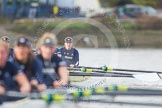 "The Boat Race season 2016 - Women's Boat Race Trial Eights (OUWBC, Oxford): ""Scylla"" and ""Charybdis"" approaching Stag Brewery. River Thames between Putney Bridge and Mortlake, London SW15,  United Kingdom, on 10 December 2015 at 12:36, image #315"