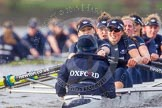 "The Boat Race season 2016 - Women's Boat Race Trial Eights (OUWBC, Oxford): ""Scylla"", cox-Antonia Stutter, stroke-Emma Lukasiewicz, 7-Lauren Kedar, 6-Joanne Jansen, 5-Anastasia Chitty, 4-Rebecca Te Water Naude, 3-Elettra Ardissino, 2-Merel Lefferts, bow-Issy Dodds. River Thames between Putney Bridge and Mortlake, London SW15,  United Kingdom, on 10 December 2015 at 12:36, image #322"